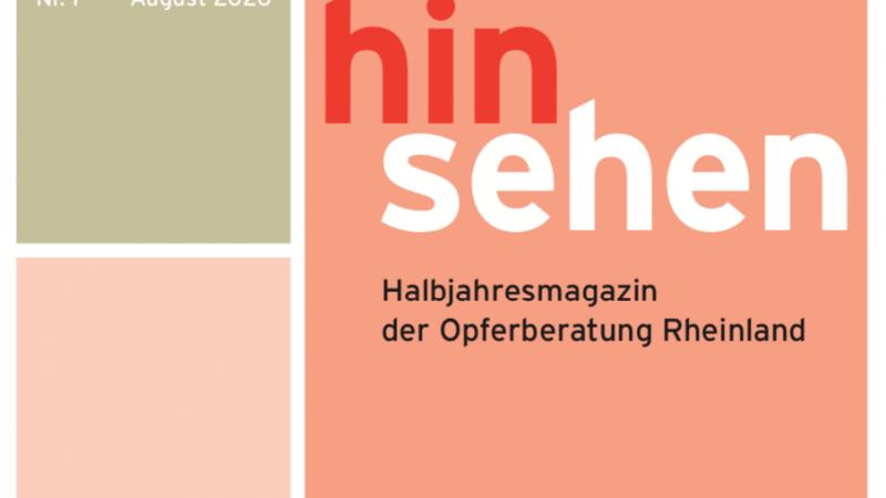 """Was hat Hanau mit mir zu tun? Die Opferberatung Rheinland (OBR) hat die erste Ausgabe des halbjährlich erscheinenden Online-Magazins """"Hinsehen"""" veröffentlicht mit diesem Schwerpunkt:"""