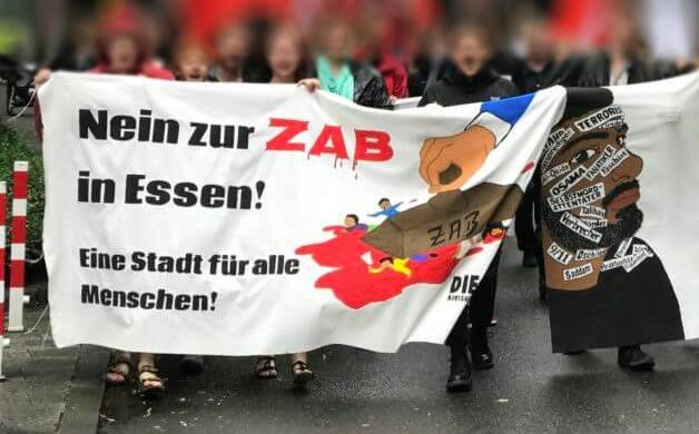 Zentrale Ausländerbehörde (ZAB) in Essen – gegen den lokalen Protest wird Essen zum Standort für Abschiebepolitik