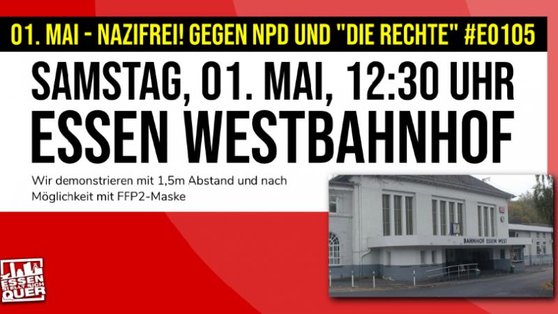 """01. Mai – Nazifrei!  Erfolgreicher Protest gegen NPD und """"DIE RECHTE"""""""